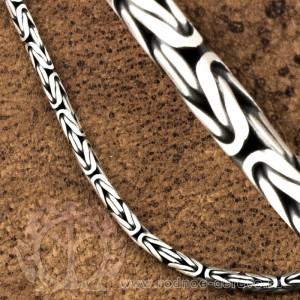 Византийская цепь из серебра  - 3,2мм в сечении